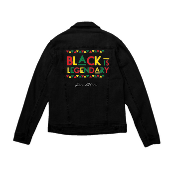 Black is Legendary | Black Denim Jacket