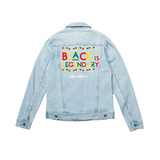 Black history denim jacket Legendary