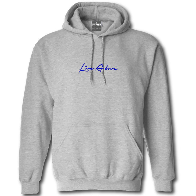 Small Signature Hoodie- Grey