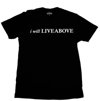 I will Live Above tee and bag
