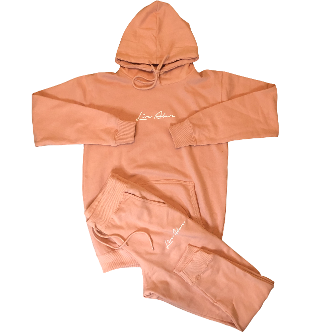 Signature Live Above hoodie Sweatsuit - Peach