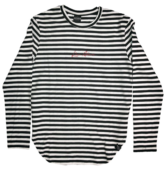 Signature side zipper tee - Striped