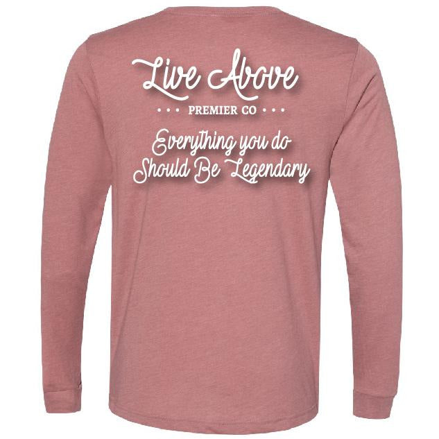 Pink Legendary Nashville t-shirt Live Above