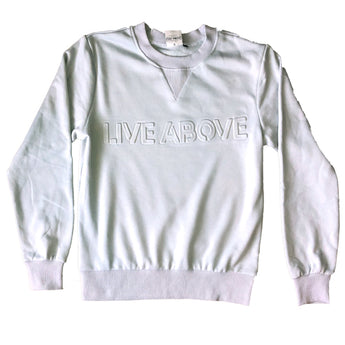live above embossed sweatshirt Nashville
