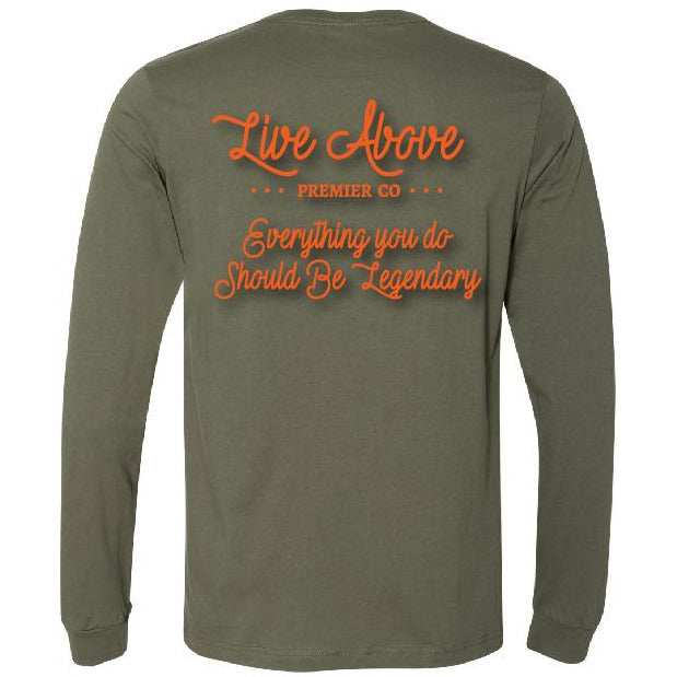 Be Legendary Long Sleeve- Military orange