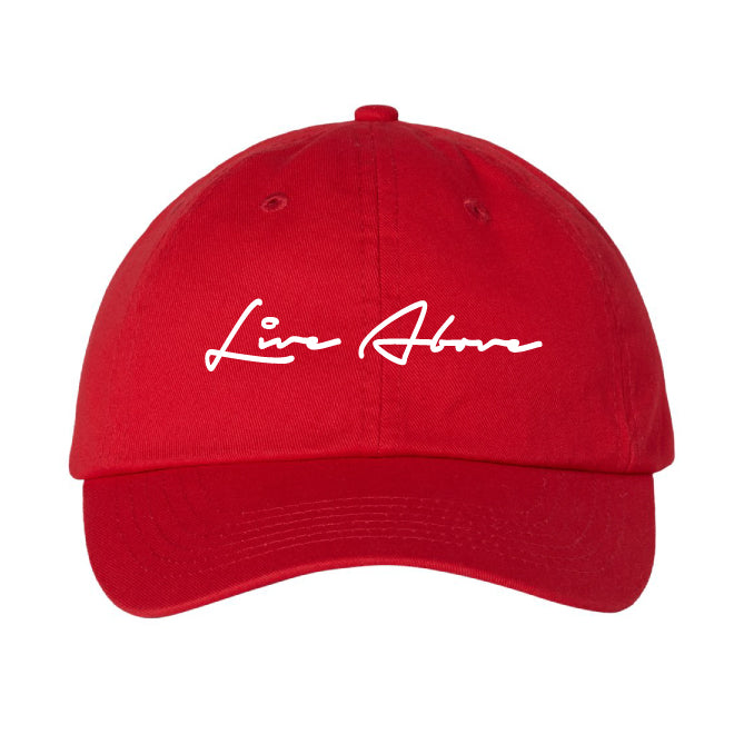 Live Above Step Dad Cap- Red