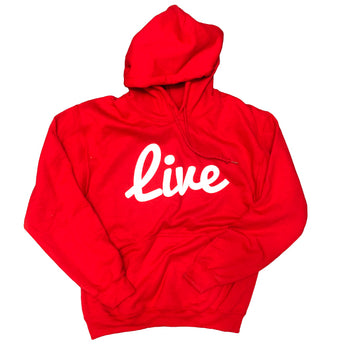 Live Hoodie- Red