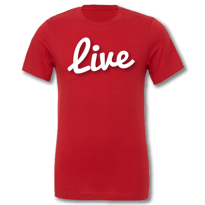 Live Tee- Red