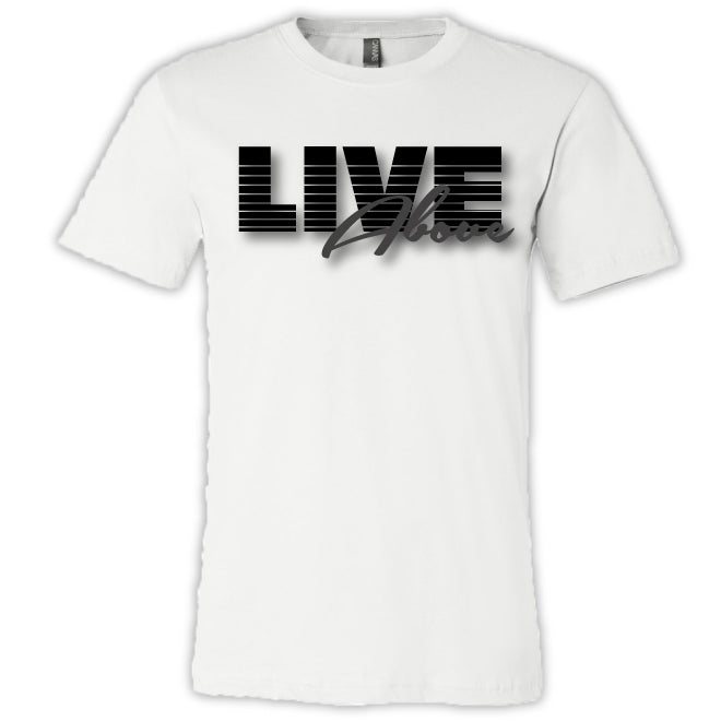 Live Above Racer tee - White