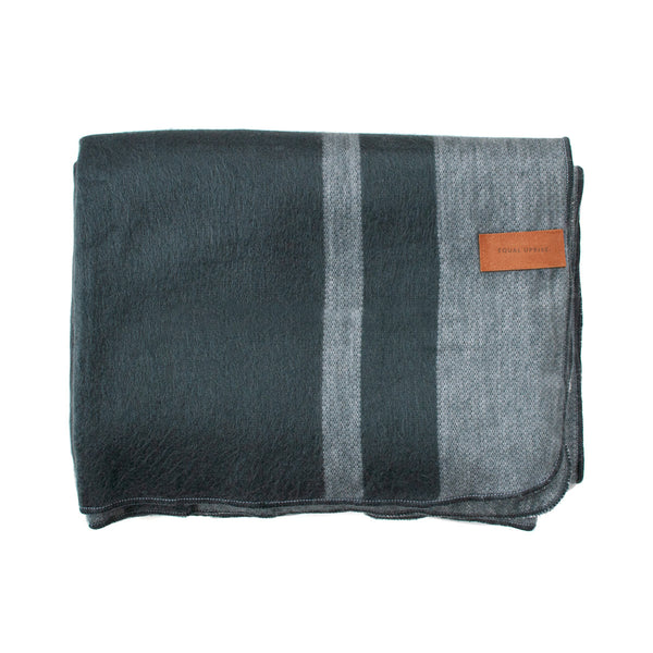 Alpaca Blanket - Charcoal Stripes - EQUAL UPRISE