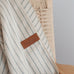 Alpaca Blanket - Natural With Grey Stripes