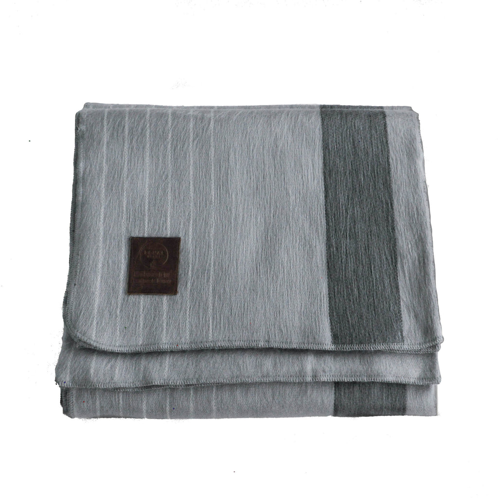 Alpaca Blanket - Grey Stripes - EQUAL UPRISE