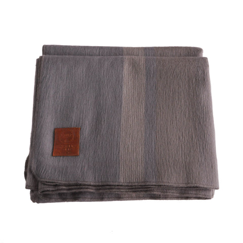 ALPACA BLANKET - PEWTER & GREY STRIPES - EQUAL UPRISE