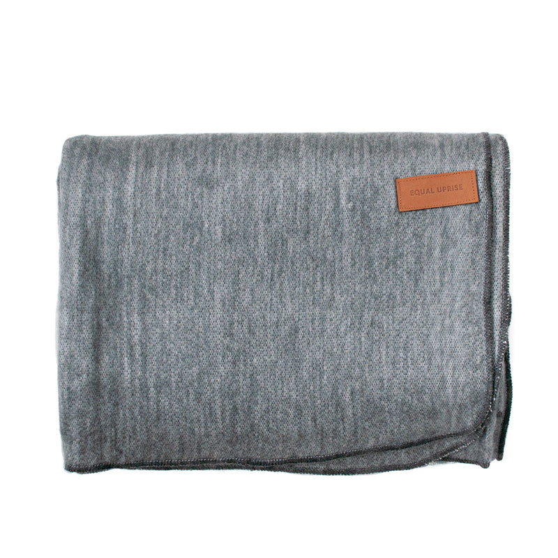 Alpaca Blanket - Plush - Grey - EQUAL UPRISE