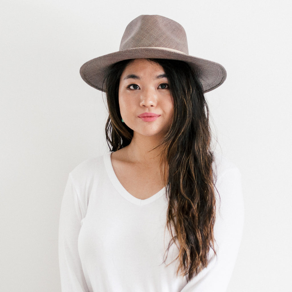 Avocado Straw Hat - Grey