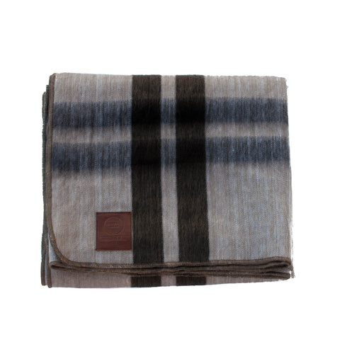 Alpaca Blanket - Tan & Brown Frame - EQUAL UPRISE