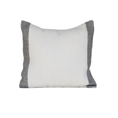 Block Pillow Cover - Grey & White