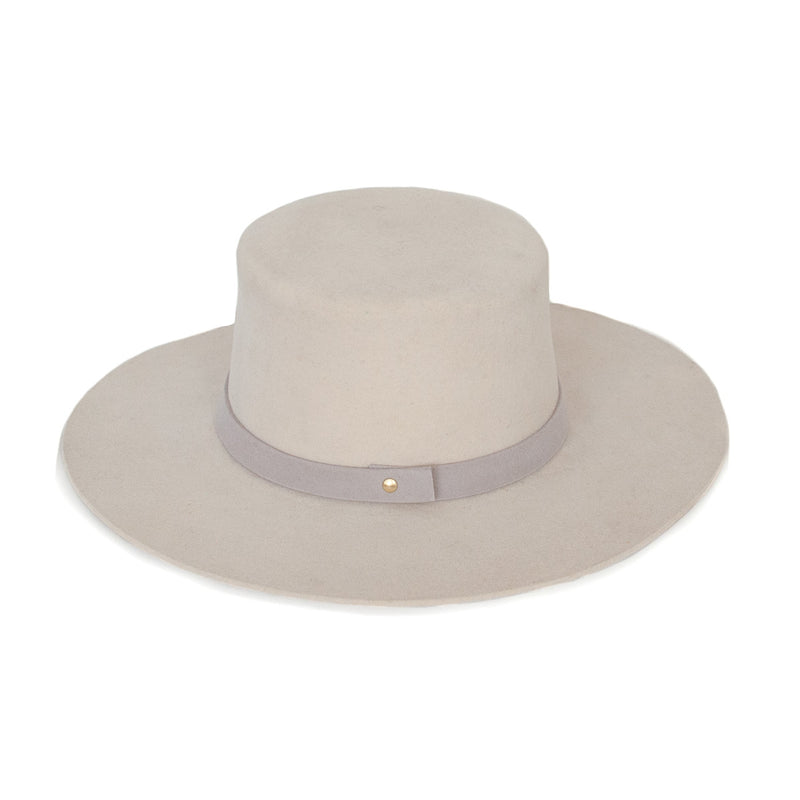 Flat Top Wool Hat - Bone - EQUAL UPRISE
