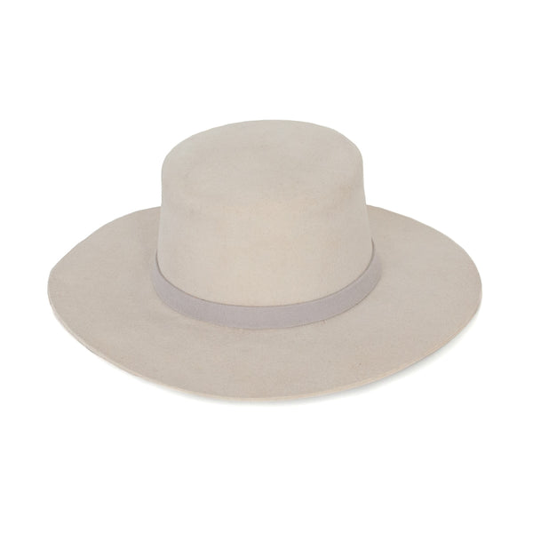 Flat Top Wool Hat - Bone