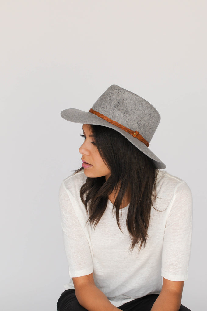 Floppy Fedora - Spotted Grey - EQUAL UPRISE