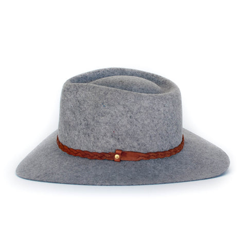 Floppy Fedora - Spotted Grey