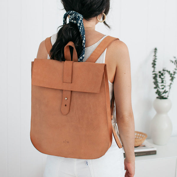 Leather Backpack - Honey - EQUAL UPRISE