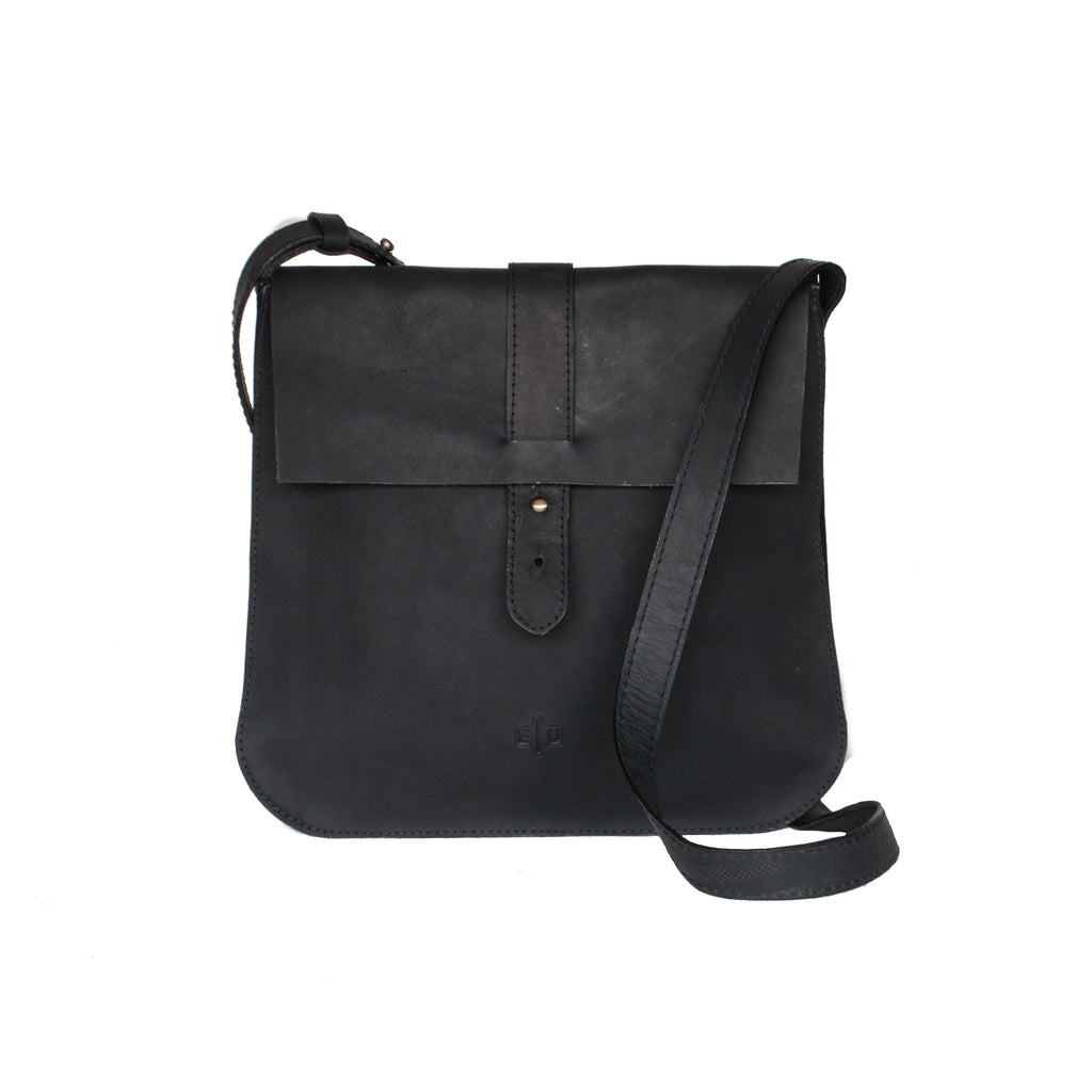 Leather Crossbody - Black - EQUAL UPRISE