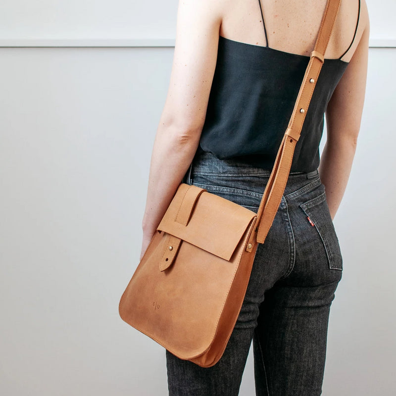 Leather Crossbody - Honey