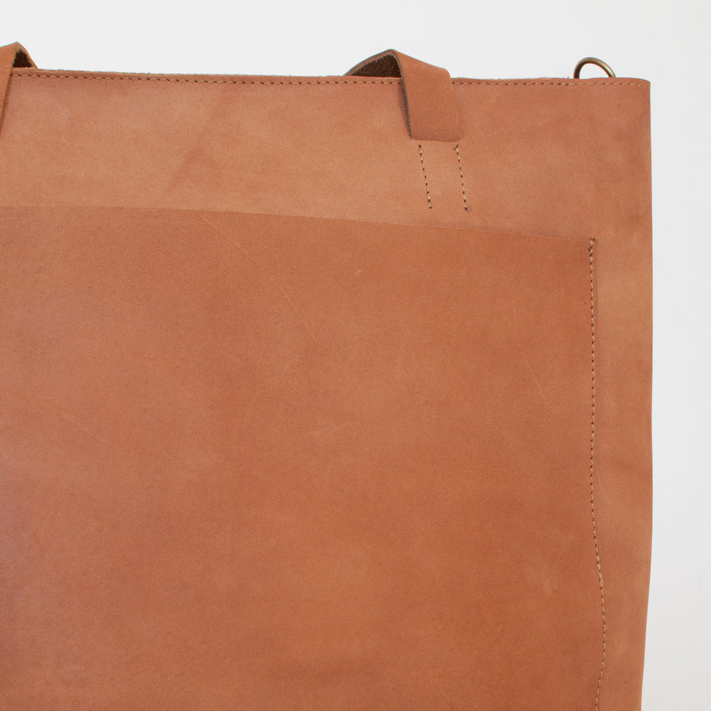 Leather Tote - Honey - EQUAL UPRISE
