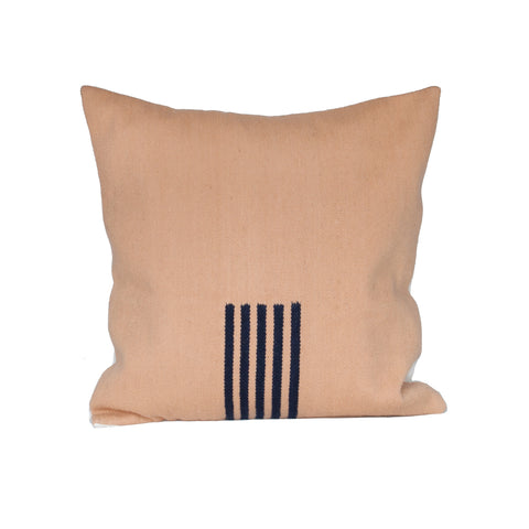 4-Way Pillow Cover - Pale Peach & Navy Stripes