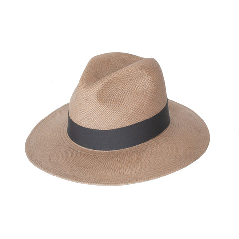 Panama Straw Hat - Grey