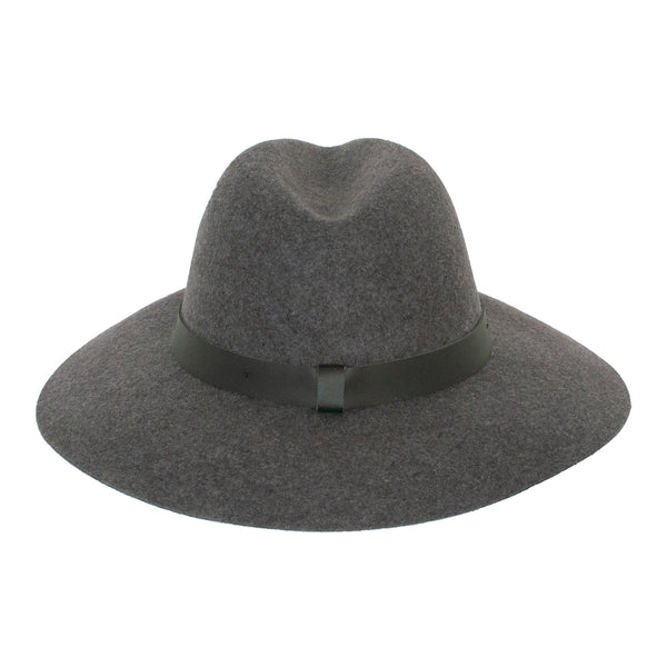 Panama Wool Hat - Dark Grey