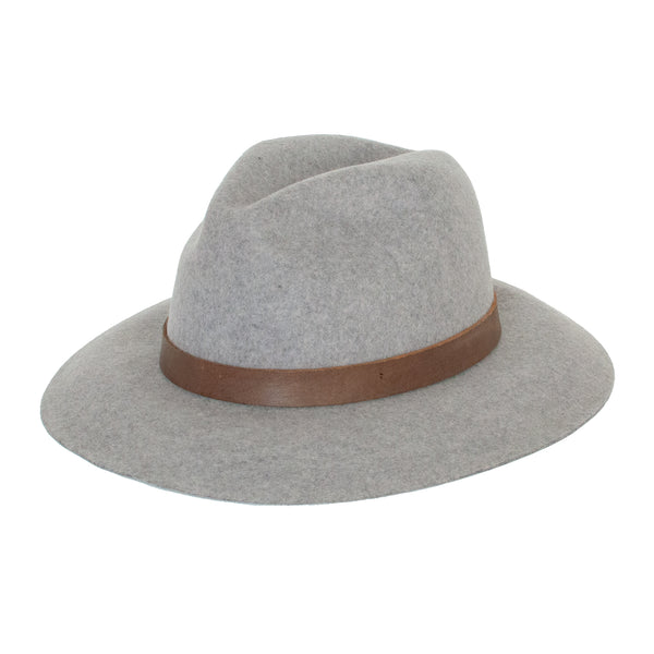 Panama Wool Hat - Light Grey