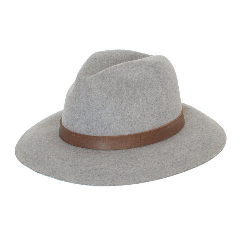 Panama Wool Hat - Light Grey - EQUAL UPRISE