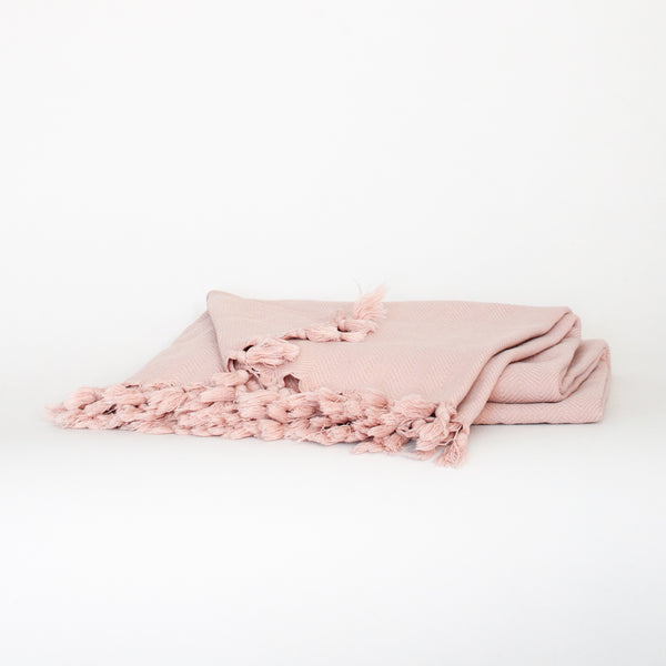 Peshtemal Style Coverlet - Pale Rose - EQUAL UPRISE