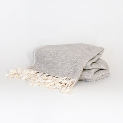 Bamboo Peshtemal Towel - Grey - EQUAL UPRISE