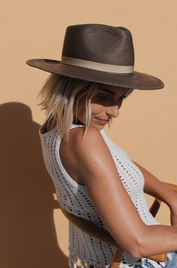 Avocado Straw Hat - Grey - EQUAL UPRISE