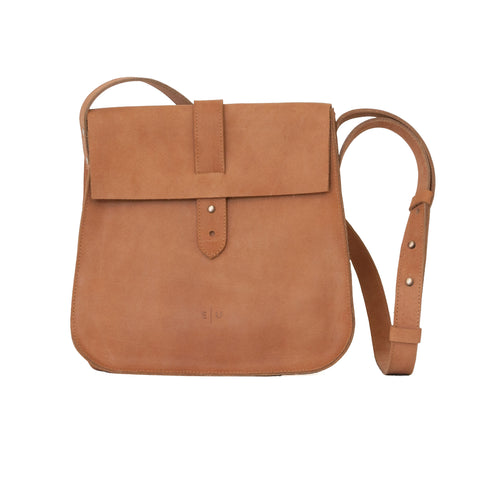 Leather Crossbody - Honey - EQUAL UPRISE