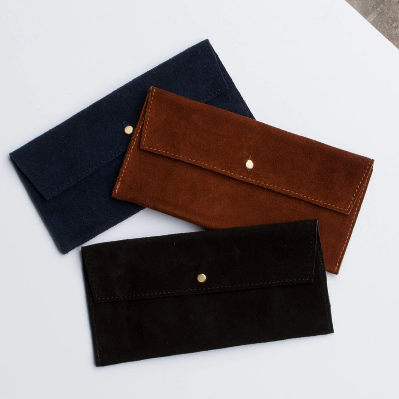 Suede Envelope - Black - EQUAL UPRISE