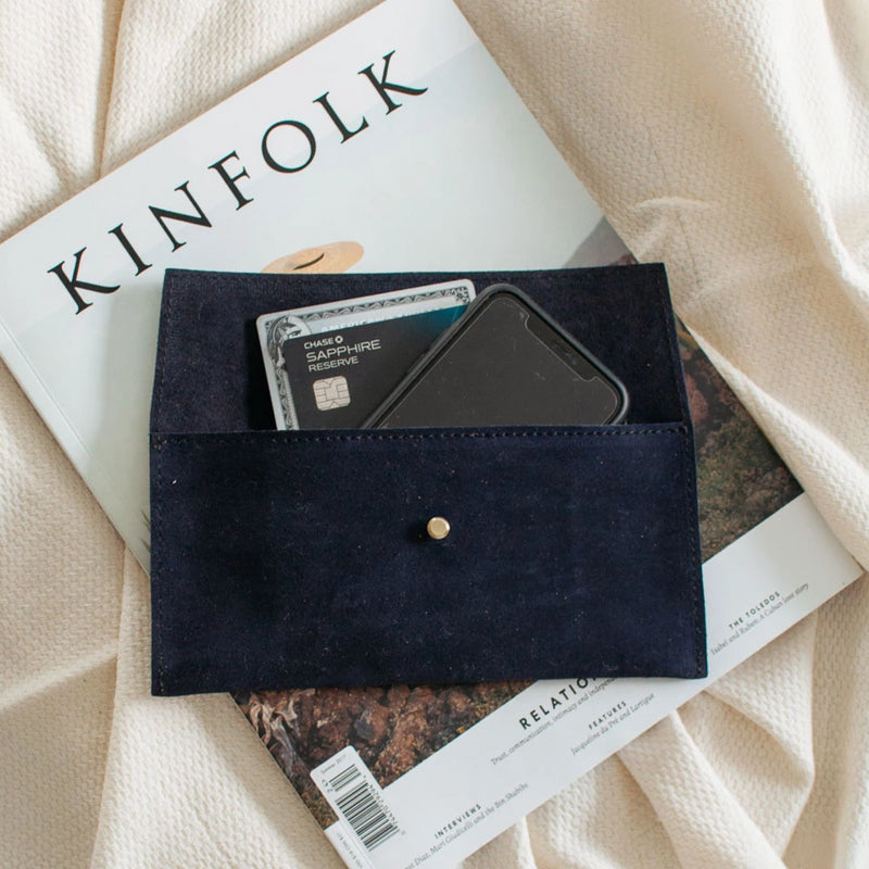 Suede Envelope - Navy