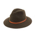 Traditional Fedora - Olive - EQUAL UPRISE