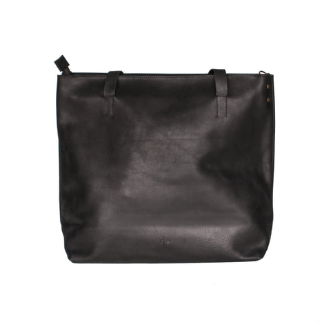 Travel Leather Tote - Black - EQUAL UPRISE