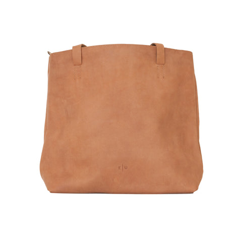 Travel Leather Tote - Honey - EQUAL UPRISE