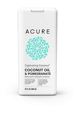 Acure Captivating Coconut Body Wash - Coconut Oil & Pomegranate (354ml)