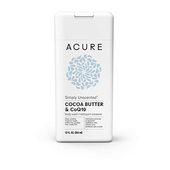Acure Simply Unscented Body Wash - Cocoa Butter & CoQ10 (354ml)