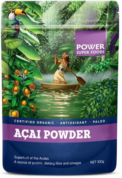 POWER SUPER FOODS Organic Acai Berry Powder (100g)