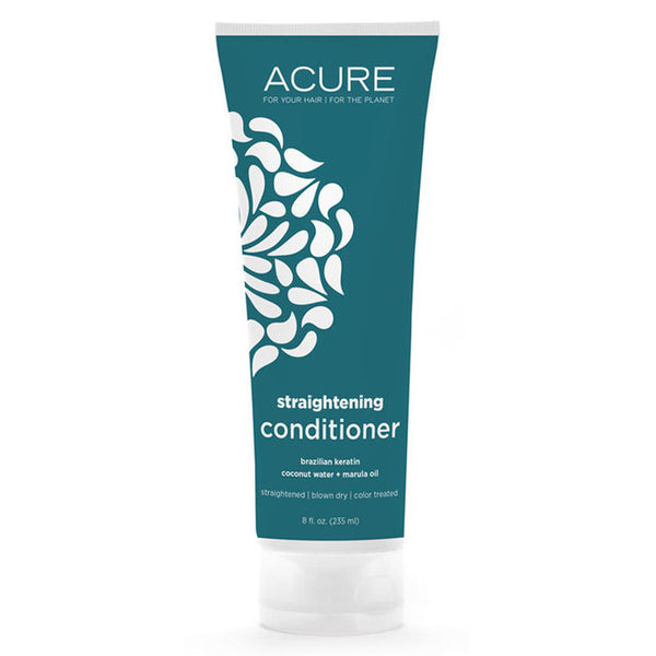 Acure Straightening Conditioner - Brazilian Keratin, Coconut Water + Marula Oil (235ml)