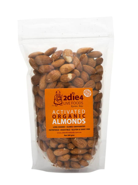 2Die4 Live Foods - Activated Organic Almonds Vegan (600g)