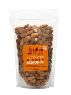 2Die4 Live Foods - Activated Organic Almonds Vegan (300g)
