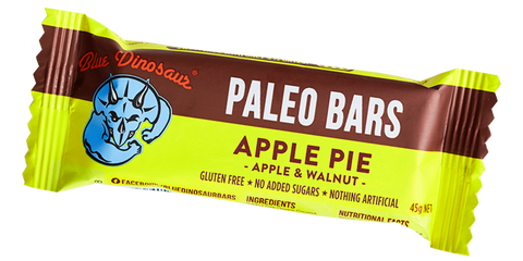 Blue Dinosaur Paleo Bars - Apple Pie (12 x 45g)